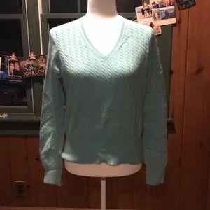 EUC Pure Cashmere Seafoam Green Sweater